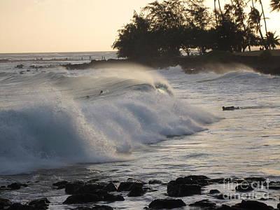 Kauai - Brenecke Beach Surf Art Print