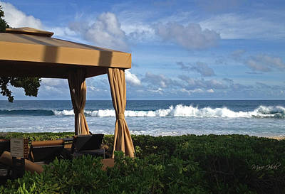Photograph - Kauai Cabana By The Sea by Marie Hicks