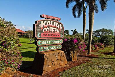 Kauai Coffee Art Print by Scott Pellegrin