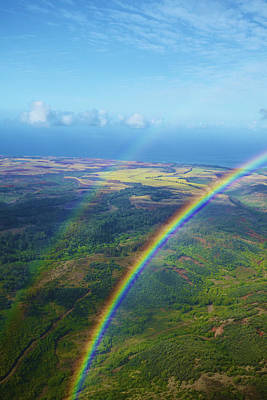 Photograph - Kauai Double Rainbow by Kicka Witte