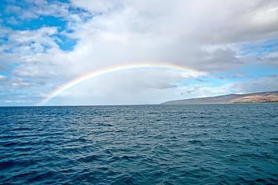 Photograph - Kauai Island Shore And The Rainbow by Marek Poplawski