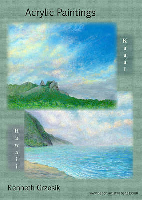 Kauai Painting Poster 2 Original by Kenneth Grzesik