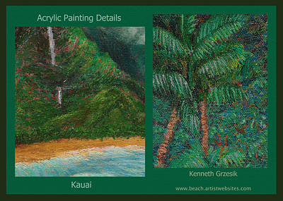 Kauai Painting Poster 3 Art Print by Kenneth Grzesik