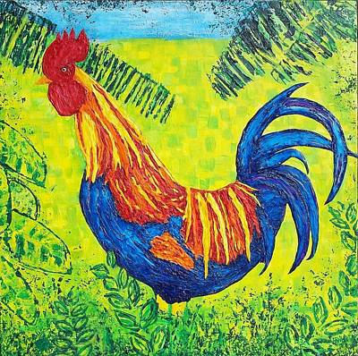Painting - Kauai Rooster by Susan M Woods
