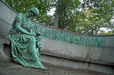 Photograph - Kauffmann Grave Sculpture by Cora Wandel