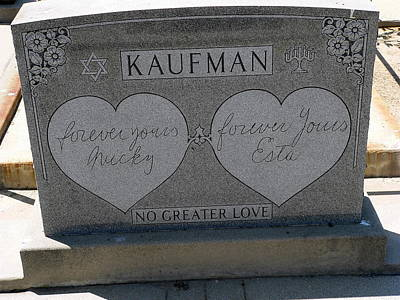 Photograph - Kaufman Grave No Greater Love by Jeff Lowe