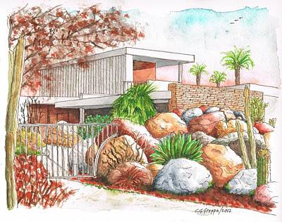 Kaufmann House, Richard Neutra Architect, Palm Springs, California Original by Carlos G Groppa
