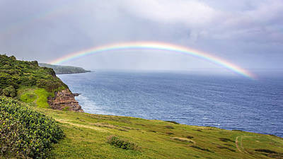 Photograph - Kaupo Maui Rainbow by Pierre Leclerc Photography