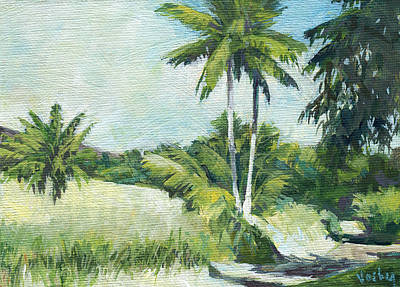 Haleiwa Painting - Kaupo Palms by Stacy Vosberg