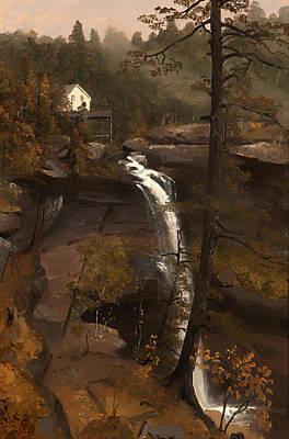 Beautiful Creek Painting - Kauterskill Falls by Mountain Dreams