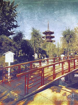 Photograph - Kawasaki Daishi Five-storied Pagoda And Bridge by Beverly Claire Kaiya