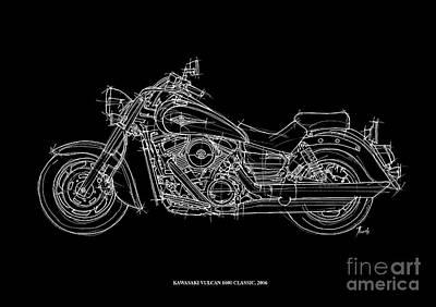 Kawasaki Vulcan 1600 Classic 2006 Art Print by Pablo Franchi