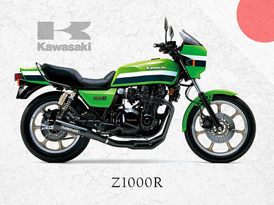Kawasaki Z1000r 1982 Art Print by Mark Rogan