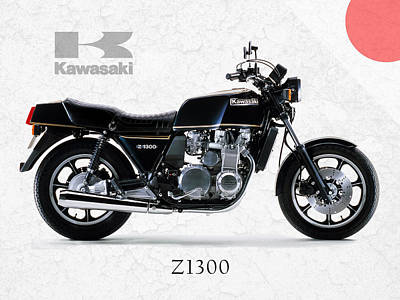 Kawasaki Z1300 Art Print by Mark Rogan