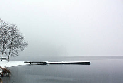 Photograph - Kawkawa Lake In Winter by Gerry Bates