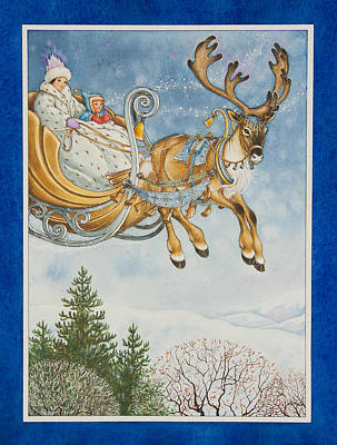 Kay And The Snow Queen Art Print