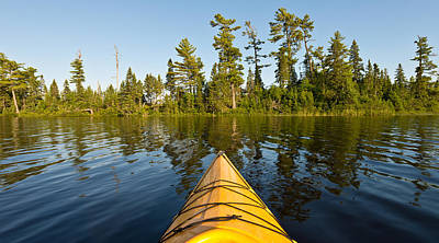 Kayak Photograph - Kayak Adventure Bwca by Steve Gadomski