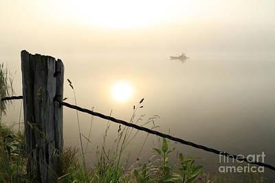 Photograph - Kayak Anglers Sunrise by Brenda Schwartz