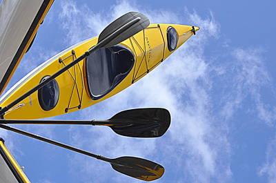 Spot Of Tea Royalty Free Images - Kayak Art Royalty-Free Image by AJ  Schibig