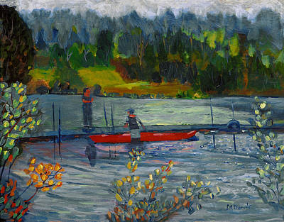 Painting - Kayak At Kittatinny by Michael Daniels