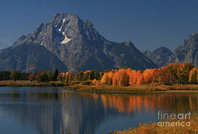 Kayak At Oxbow Bend Art Print by Clare VanderVeen