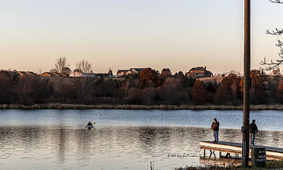 Photograph - Kayak At Sunset by Edward Peterson