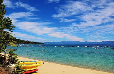 Photograph - Kayak Beach Lake Tahoe by Marilyn MacCrakin