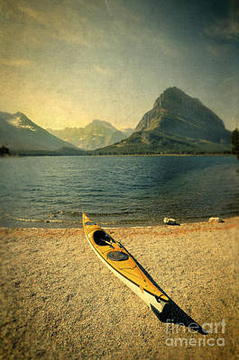 Photograph - Kayak By Moutain Lake by Jill Battaglia