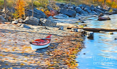 Photograph - Kayak In The Autumn by Bianca Nadeau