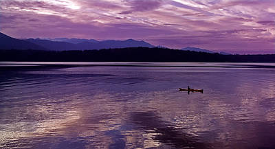 Art Print featuring the photograph Kayak On Dabob Bay by Greg Reed
