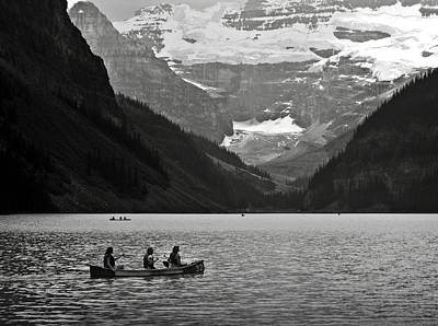 Kayak On Lake Louise Art Print