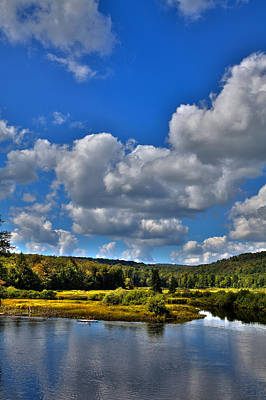 Fall Foliage Photograph - Kayak On The Moose River - Old Forge New York by David Patterson