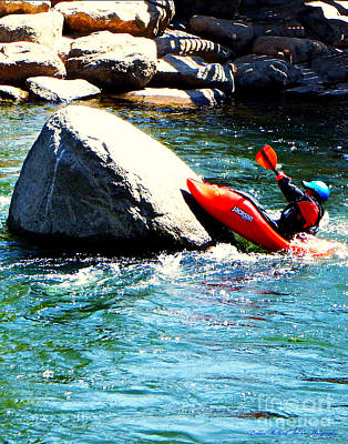 Photograph - Kayak On The Rocks by Bobbee Rickard