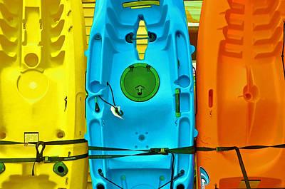 Photograph - Kayak Palette  by Allen Beatty