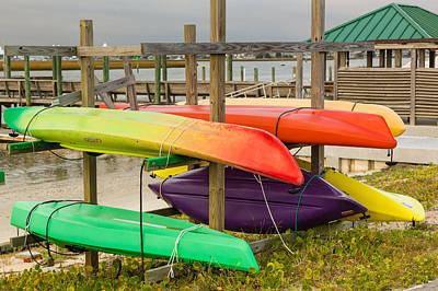 Photograph - Kayak Rack by Denis Lemay