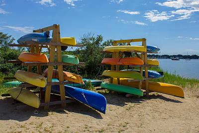 Photograph - Kayak Racks by Kirkodd Photography Of New England