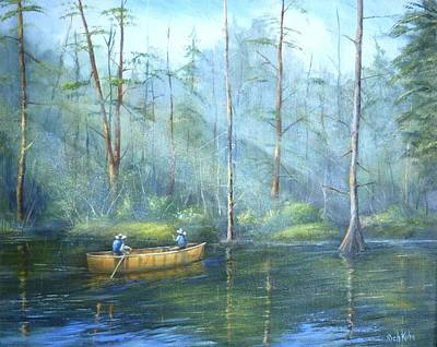 Painting - Kayak Rays by Rich Kuhn