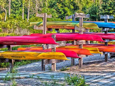 Digital Art - Kayak Rentals 2013 by Kathryn Strick