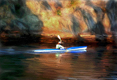 Photograph - Kayak Rower by Dale Stillman