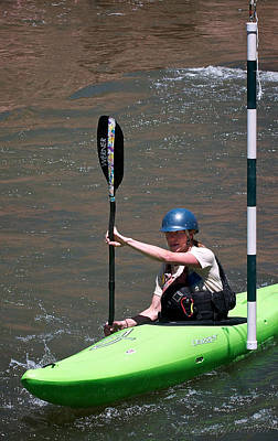 Photograph - Kayak Slalom by Britt Runyon