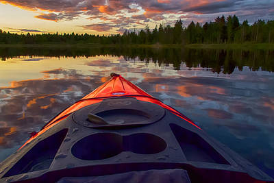 Photograph - Kayak Sunset by Ray Still