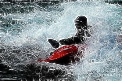 Kayaker 2 Art Print by Bob Christopher