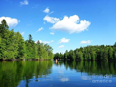 Photograph - Kayaker On Lake by Cristina Stefan