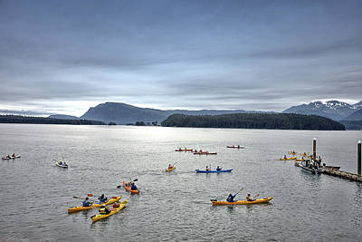 Photograph - Kayakers In Juneau Alaska by Carol M Highsmith