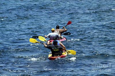 Kayaking In Hawaii  Art Print