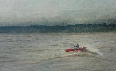 Digital Art - Kayaking In Port Dover by Eduardo Tavares