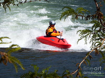 Photograph - Kayaking In Raging River by Bobbee Rickard