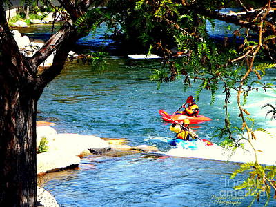 Photograph - Kayaking In The River  by Bobbee Rickard