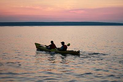 Photograph - Kayaking Lake Superior by Dan Sproul