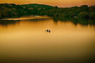 Photograph - Kayaking On Lady Bird Lake by Kristina Deane